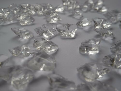 100 CLEAR BUTTERFLIES CRYSTAL ACRYLIC SCATTER WEDDING TABLE DECORATION //CONFETTI