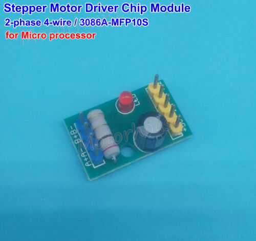 Micro chip de controlador de motor paso a paso prueba Módulo para Arduino MCU DC 5V 2 fases 4 Cables