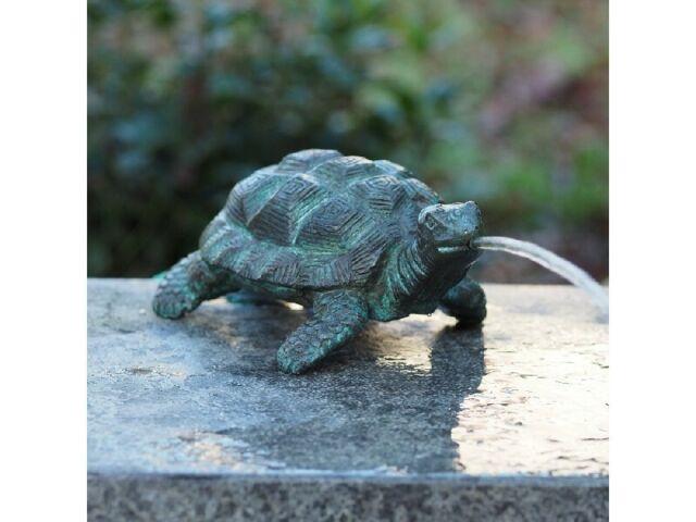 """NEU !! HEISSNER Teichfigur Wasserspeier Figur Speier /""""Schildkröte/"""" 28 cm !"""