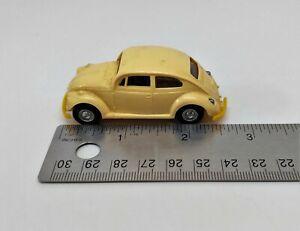 Vintage-Lindberg-034-Mini-Lindy-034-Yellow-Volkswagen-Beetle-Bug-19-read-desc