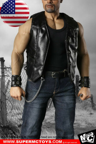 1/6 Leather Jacket Jeans Boots Set For 12 Male Muscular Figure PHICEN M34 M35