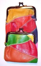 Womans Multi-Color Patch Leather Cigarette Case / Wallet / Coin Purse by Eclipse