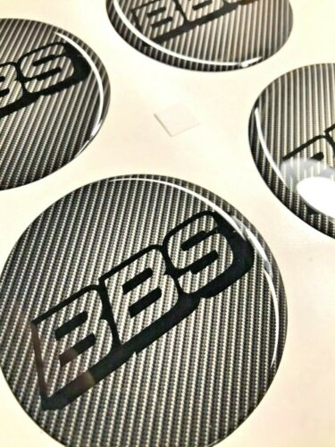 4 x 70 mm Silikon BBS Aufkleber Embleme Felgen Logo Nabendeckel