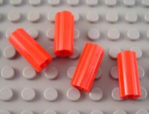 New LEGO Lot of 4 Red Technic #1 Axle Connectors