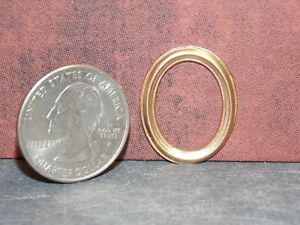 Dollhouse Miniature Metal Gold Picture Frame 1:12 in scale F19 Dollys Gallery