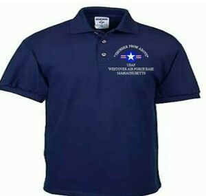WESTOVER-AIR-FORCE-BASE-MASSACHUSETTS-USAF-EMBROIDERED-LIGHTWEIGHT-POLO-SHIRT