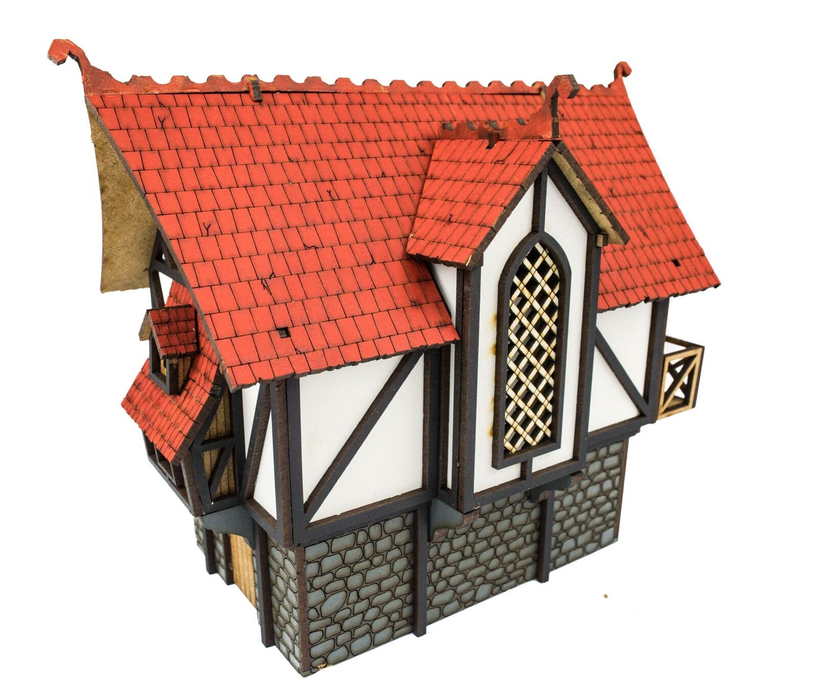 WWG Medieval Town Large Town House - 28mm Wargame Terrain Model Diorama
