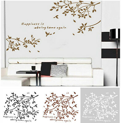 Tree Birds Quote Removable Wall Sticker Art Vinyl Decal Mural Bedroom Decor