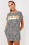 New Womens Oversized Long Vogue Slogan Leopard Print Baggy Top T-Shirt Dress