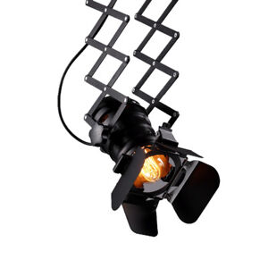 Retro-Industrial-camera-Tijera-Lampara-Colgante-incl-Bombilla