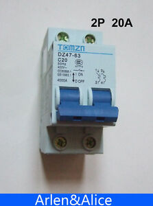 2P 20A 400V~ 50HZ/60HZ Circuit breaker AC MCB safety breaker C TYPE