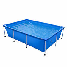 JLeisure 17818 Above Ground Rectangular Steel Frame Swimming Pool, 8.5 x 6 Ft
