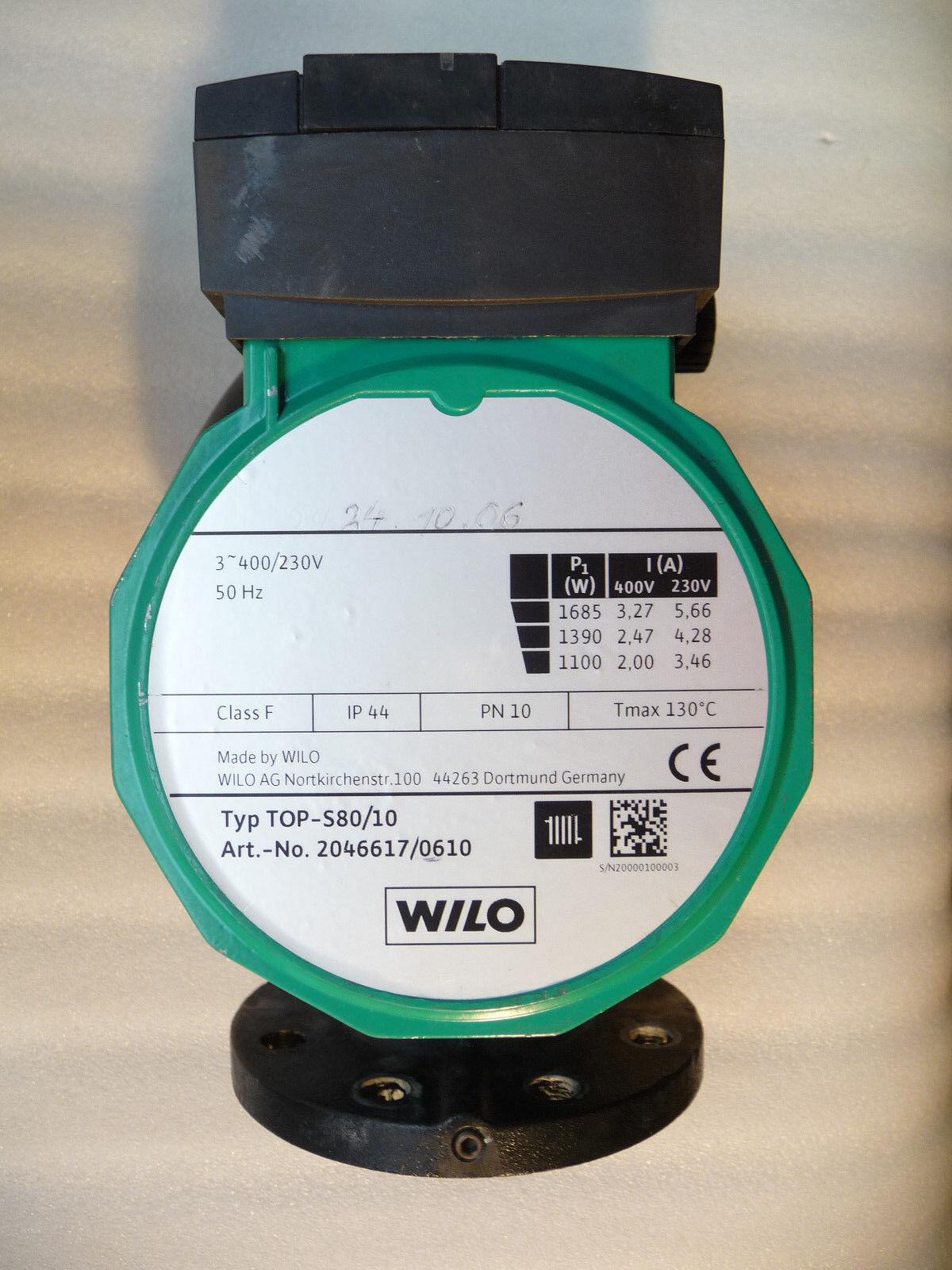 Wilo TOP S 80 / 10 Heizungspumpe 400 Volt Umwälzpumpe 360 mm gebraucht P8/18