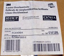 HP C6761A 3M 8519CP Lustre Overlaminate 36in 75ft Roll Vinyl Pressure Sensitive