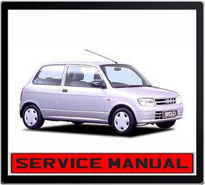 daihatsu cuore mira l701 1998 2003 service repair manual in dvd ebay rh ebay com au Daihatsu Cast 2017 Daihatsu Mira