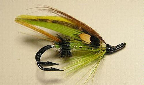 Full Dress Size #6  Double Salmon  Flies Green Highlander