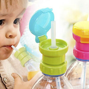 Kid *Elderly Portable Silicone Straw Spill-proof Drink Bottle Spout Cover Tool