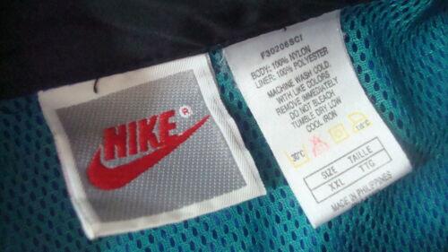 cortavientos azul poli Chaqueta 2xl Nike turquesa negro y OHwAa