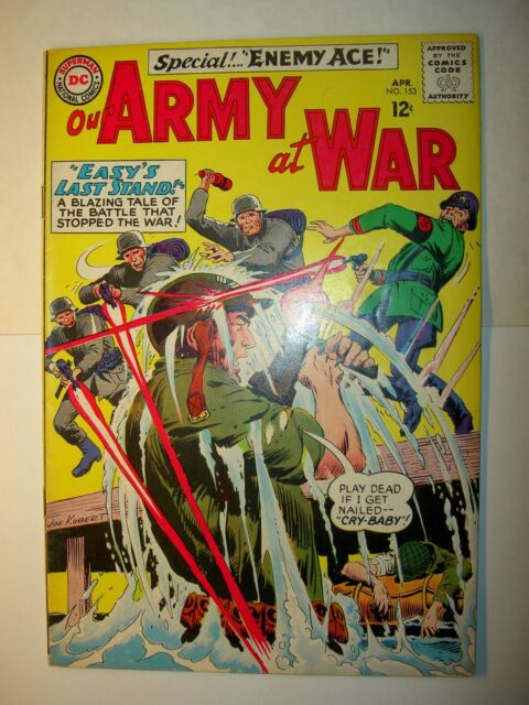 Our Army at War #153 VG+, 1965, DC comics, Joe Kubert art, 2nd Enemy Ace, BV=$50