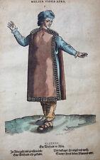 MAROKKO MULIER VIDUA AFRA ORIGINALER HOLZSCHNITT AMMAN WEIGEL TRACHTEN BUCH 1577