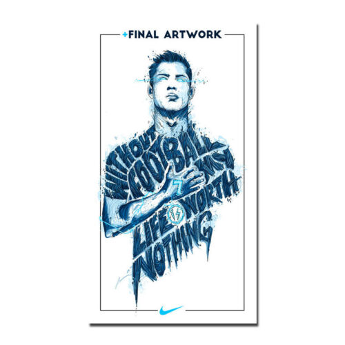 Cristiano Ronaldo Real Madrid Super Soccer Star Silk Poster 13x24 24x43inch J628