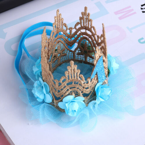Baby Boys Girls Birthday Crown Headband 1st Tiara Headwear Party Hat Accessories