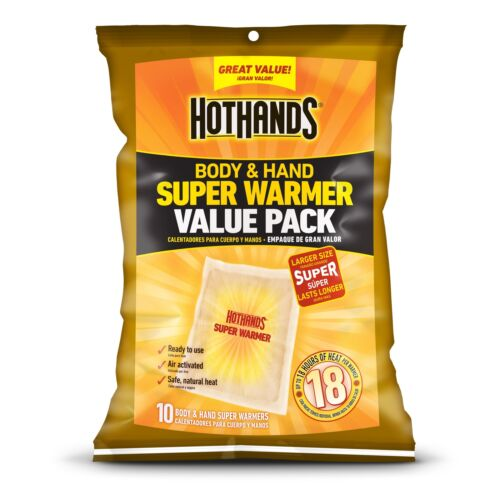 HotHands Body and Hand Super Warmer Bag of 10 Pieces