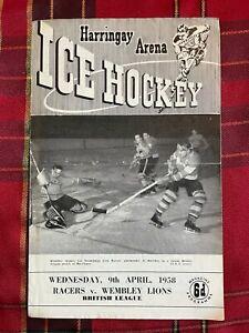 Harringay Arena Ice Hockey Programme 09/04/1958