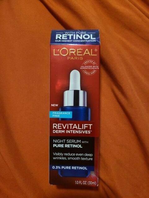 L'Oreal Paris Revitalift Derm Intensives Night Serum With 0.3% Pure Retinol-1oz