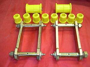HOLDEN-COLORADO-EXTENDED-REAR-SPRING-SHACKLES-amp-POLY-BUSHES-2008-APRIL-2012