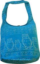 Schultertasche Beuteltasche Baumwolle Canvas Hippie Boho Tasche Eulen neu 17719