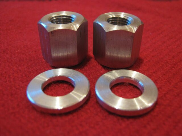"BIke Axle Wing Nuts Vintage Alloy Pair  for 3//8/"" Axle"