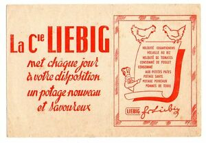 Buvard publicitaire Liebig poule