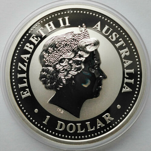 Details about  /Australien Australia 1 dollar 2004 Lunar Year of Monkey Silver 1 oz  Gold   №2