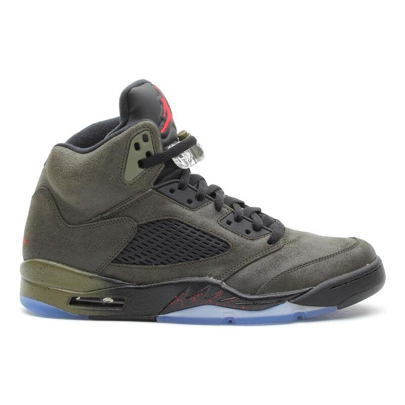 2013 Nike Air Jordan Retro 5 V SZ 9 Fear Pack Army Olive Green DB BIN 626971-350