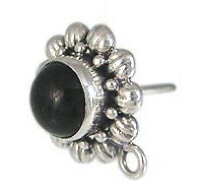 FH14c -Bali Sterling Silver Earring Post Findings - 1pr