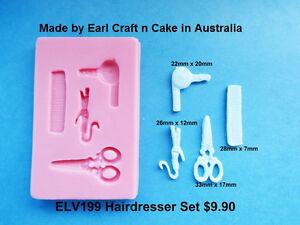 Image Is Loading Hairdresser Silicone Mould Cake Decorating Gum Paste Sugar