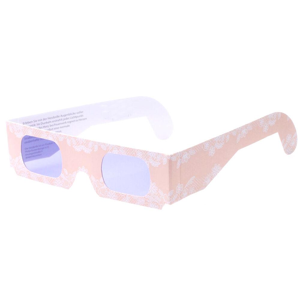 Herzbrille Traumzeit apricot 50 Stk Jeder Lichtpunkt wird ABENDS zum Herz | Spielzeug mit kindlichen Herzen herstellen  | Moderne und stilvolle Mode