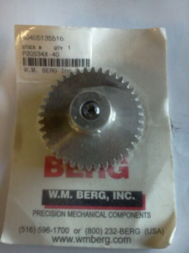 W.M P20S34X-40 Berg Stainless 40-Tooth Spur Gear Part #