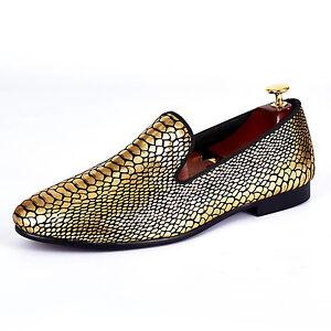 7b930bcd46f Image is loading Harpelunde-Snake-Paisley-Gold-Wedding-Shoes-Handmade-Men-