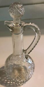 Avon-Vintage-Clear-Glass-Cruet-Stopper-amp-Handle-8-1-2-034-Tall