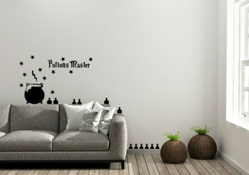 Potions Master Harry Potter Style Decor Wall Art Decal Vinyl Sticker
