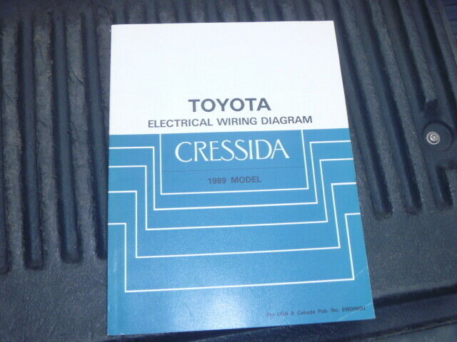 Oem Genuine 1989 Toyota Cressida Electrical Wiring Diagram