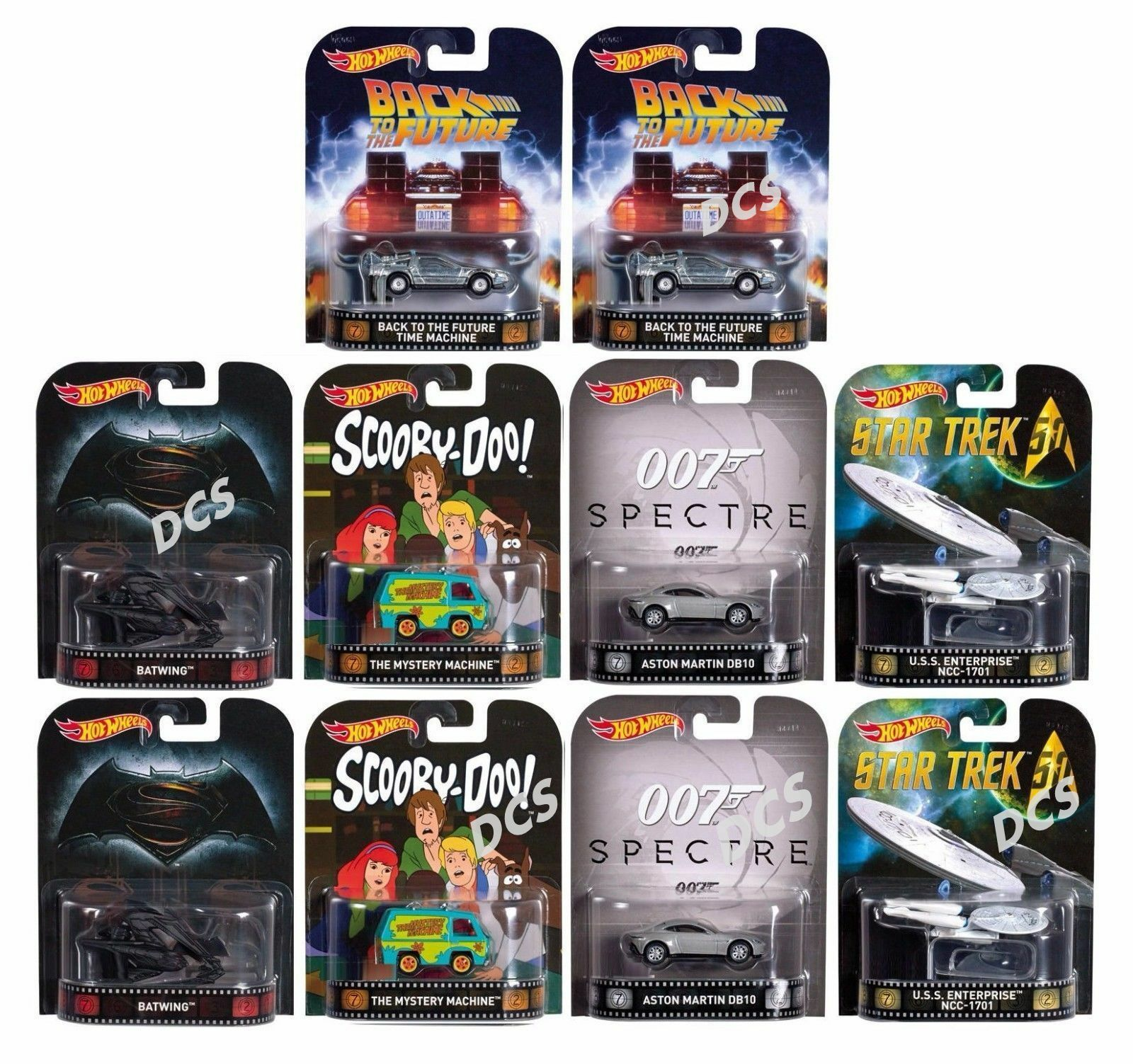HOT WHEELS 1 64 RETRO ENTERTAINMENT B CASE ASSORTMENT Set Of 10 DMC55-959B