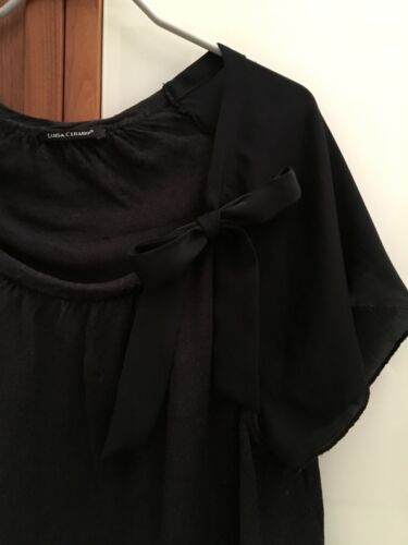Oberteil Mit Schleife Cerano Zustand 38 Luisa Shirt Sehr Schwarz Gr Guter TxH4pqnw