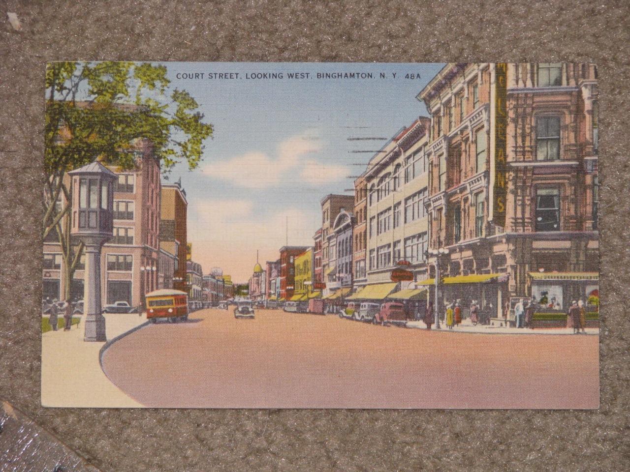 Court St., Looking West, Binghamton, N.Y., 1942, used vintage card