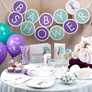Showered With Love Baby Shower Decorations Tableware Games Unisex