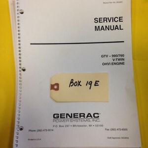 dixie chopper generac gtv 990 760 engine service manual parts rh ebay com