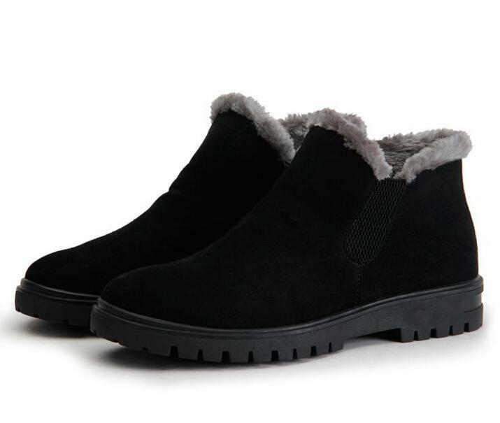 Winter Men's Men's Winter Suede Warm Lined Ankle Boots Shoes Fashion Outdoor Snow Boots Shoes e2b365