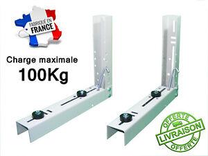 Kit Support Universel Climatiseur Acier QUALITÉ PRO Charge max 100kg FRANCE clim